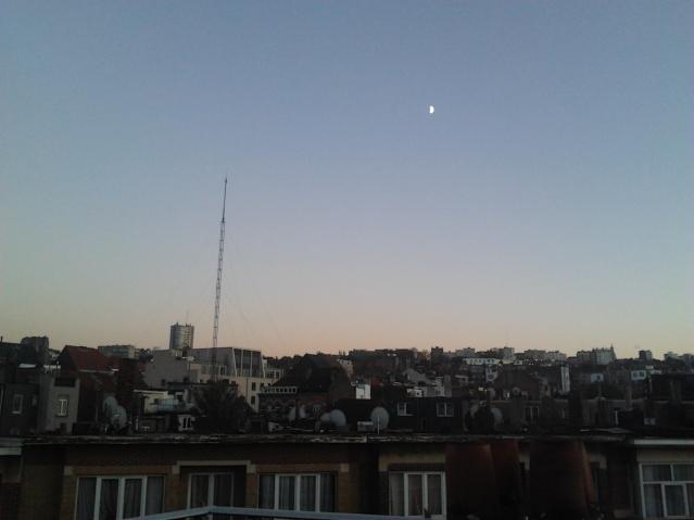 Panoramic view at sunset