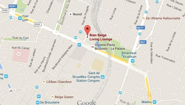hilton brussels restaurant map